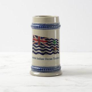 Bandera que agita del territorio del Océano Índico Jarra De Cerveza