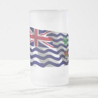 Bandera que agita del territorio del Océano Índico Taza De Cristal