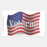 Bandera que agita del veterano de Estados Unidos Rectangular Altavoces