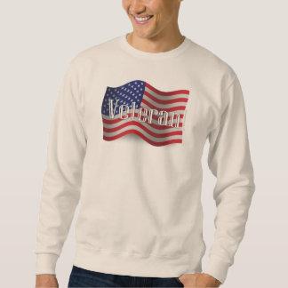 Bandera que agita del veterano de Estados Unidos Suéter