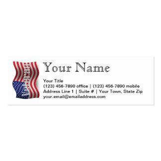 Bandera que agita del veterano de Estados Unidos Tarjetas De Visita Mini