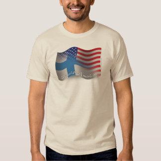 Bandera que agita Finlandés-Americana Camisas