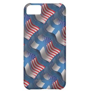 Bandera que agita Finlandés-Americana Funda Para iPhone 5C