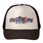 Bandera que agita Finlandés-Americana Gorras