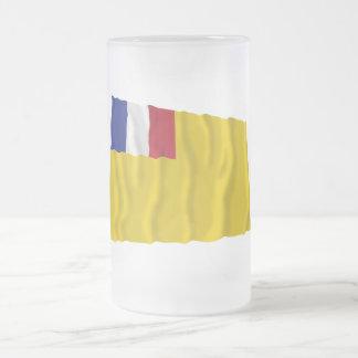 Bandera que agita francesa de indochina (1887-1954 taza cristal mate