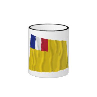 Bandera que agita francesa de indochina (1887-1954 taza a dos colores