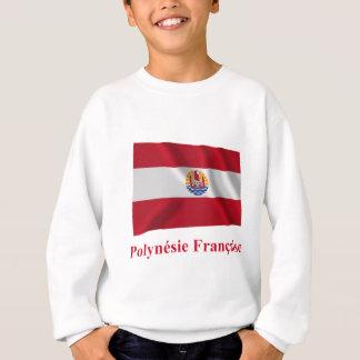 Bandera que agita francesa de Polinesia con nombre Remera