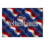 Bandera que agita holandesa felicitacion