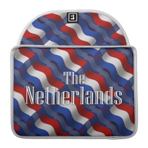 Bandera que agita holandesa fundas macbook pro