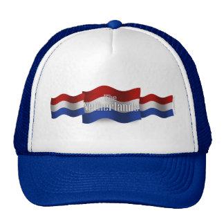 Bandera que agita holandesa gorras de camionero