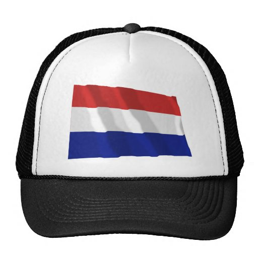 Bandera que agita holandesa gorros bordados