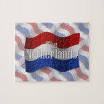 Bandera que agita holandesa rompecabeza