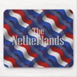 Bandera que agita holandesa tapetes de ratones