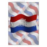 Bandera que agita holandesa tarjeta