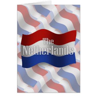 Bandera que agita holandesa tarjeta de felicitación