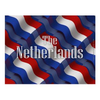 Bandera que agita holandesa tarjeta postal