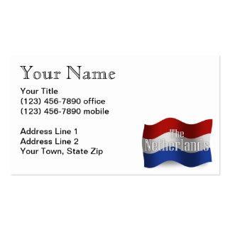 Bandera que agita holandesa tarjetas de visita