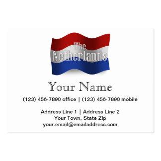 Bandera que agita holandesa tarjetas de visita grandes