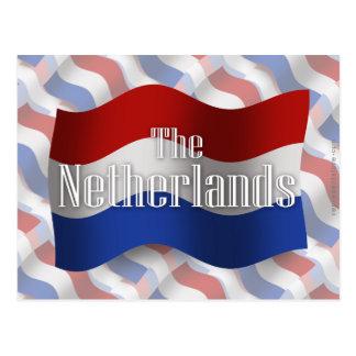 Bandera que agita holandesa tarjetas postales