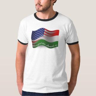 Bandera que agita Húngaro-Americana Polera