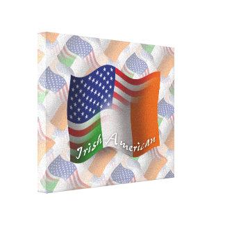 Bandera que agita Irlandés-Americana Impresiones De Lienzo