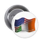 Bandera que agita Irlandés-Americana Pin