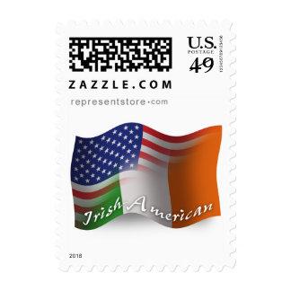Bandera que agita Irlandés-Americana Franqueo