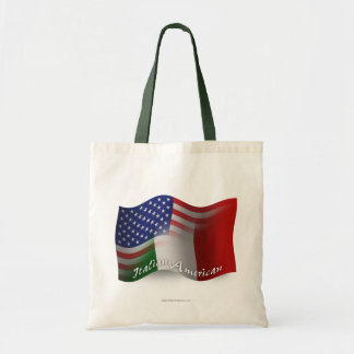 Bandera que agita Italiano-Americana Bolsas De Mano