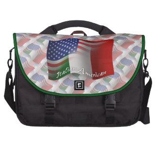 Bandera que agita Italiano-Americana Bolsas Para Ordenador