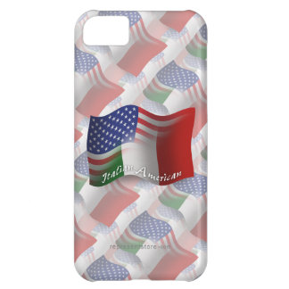 Bandera que agita Italiano-Americana Funda Para iPhone 5C