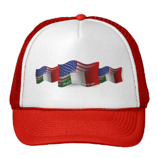Bandera que agita Italiano-Americana Gorras De Camionero