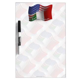 Bandera que agita Italiano-Americana Pizarras Blancas De Calidad
