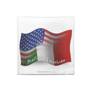 Bandera que agita Italiano-Americana Servilleta
