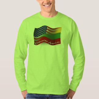 Bandera que agita Lituano-Americana Playera