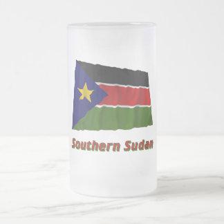 Bandera que agita meridional de Sudán con nombre Tazas De Café