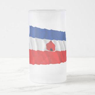 Bandera que agita meridional tazas de café
