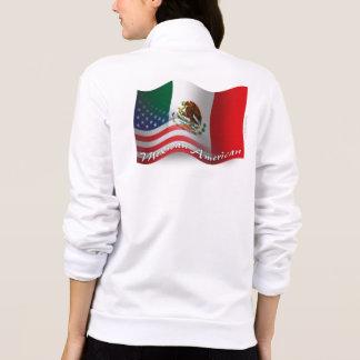 Bandera que agita mexicana-americano chaquetas imprimidas