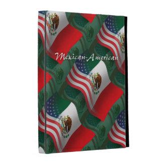 Bandera que agita mexicana-americano