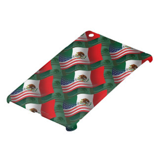 Bandera que agita mexicana-americano iPad mini carcasa