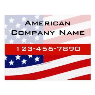 Bandera que agita moderna de los E.E.U.U. Tarjetas Postales