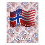 Bandera que agita Noruego-Americana Comunicados