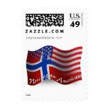 Bandera que agita Noruego-Americana Envio