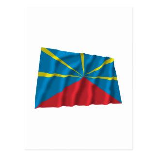 Bandera que agita propuesta de Reunion Island Tarjetas Postales