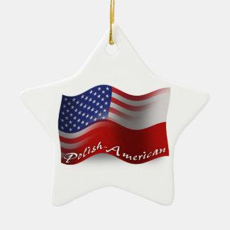 Bandera que agita Pulimento-Americana Adorno Navideño De Cerámica En Forma De Estrella