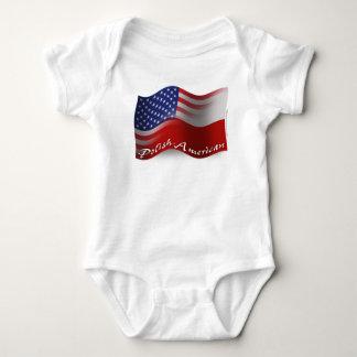 Bandera que agita Pulimento-Americana Body Para Bebé