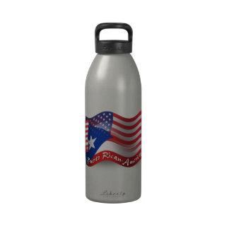 Bandera que agita Rican-Americana de Puerto Botella De Agua