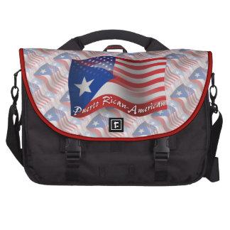 Bandera que agita Rican-Americana de Puerto Bolsas De Portatil