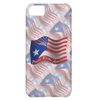 Bandera que agita Rican-Americana de Puerto