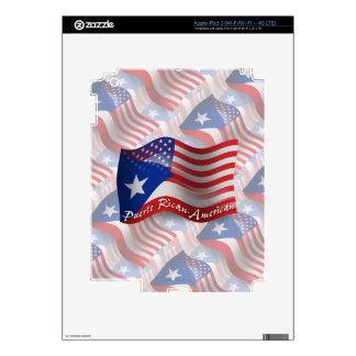 Bandera que agita Rican-Americana de Puerto iPad 3 Skins