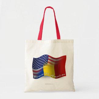 Bandera que agita Rumano-Americana Bolsa Tela Barata